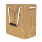 Albi Eco bag made of washable paper with handle - hummingbird 30 cm x 34 cm x 18 cm