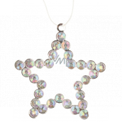 Metal hanging star with stones 9 cm