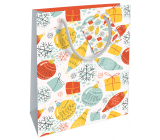 Nekupto Gift paper bag 23 x 18 x 10 cm Christmas with decorations WBM 1926 02