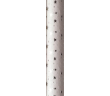 Zöwie Gift wrapping paper 70 x 150 cm Christmas Luxury White Christmas white - silver stars