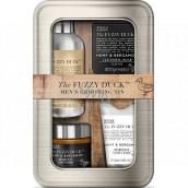 Baylis & Harding The Fuzzy Duck Men´s Hemp & Bergamot hair and beard shampoo 100 ml + beard wax 50 g + beard balm 30 ml + soap 25 g, cosmetic set for men