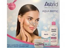 Astrid Aqua Biotic day and night cream 50 ml + micellar water 400 ml + textile mask 20 ml, cosmetic set