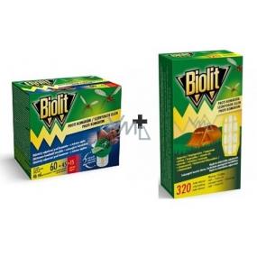Biolit with liquid mosquito repellent 60 nights electric repellent + Biolit mosquito repellent electric evaporator refill 1 piece + battery 2 pieces