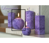Lima Marble Lavender scented candle purple ball diameter 80 mm 1 piece