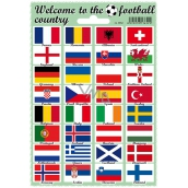 Arch Welcome to the football country stickers and tattoos flag flags 12 x 17 cm 1 piece