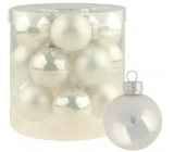 Glass white flasks set of 4 cm 18 pieces