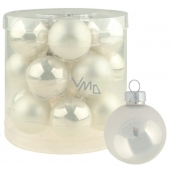 Glass white flasks set of 4 cm 18 pieces