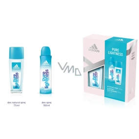 Adidas Pure Lightness perfumed deodorant glass for women 75 ml + deodorant spray 150 ml, cosmetic set