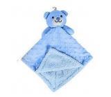 First Steps Sleeping bag with plush head Blue bear 30 x 28 cm