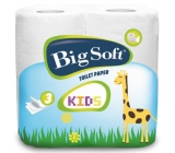 Big Soft Kids toilet paper 3 layers 160 fragments 4 pieces