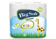 Big Soft Kids toilet paper 3 layers 160 fragments 4 pieces
