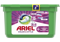 Ariel 3in1 Color & Style Complete Fiberer Protection gel capsules for washing colored laundry 13 pieces 353.6 g