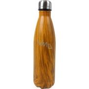 Dark wood thermo bottle
