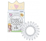 Invisibobble Kids Princess Sparkle Elastic hair band for little princesses transparent spiral 3 pieces