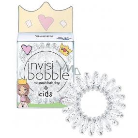 Invisibobble Kids Princess Sparkle Hair band for little princesses transparent spiral 3 pieces