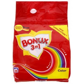 Bonux Color 3in1 washing powder for colored laundry 20 doses of 1.5 kg