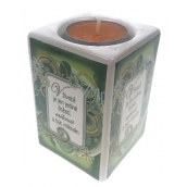 Nekupto Ceramic candlestick There is only one happiness in life, to love and to be loved 9 x 6 cm