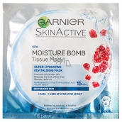 Garnier Moisture + Aqua Bomb superhydratační vyplňující textilní pleťová maska 15 minutová 32 g