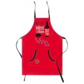 Nekupto Gifts with humor Apron with print I love cooking with wine. Sometimes I even add it to a 21 x 30 cm meal