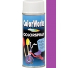 Color Works Colorspray 918507 fialový alkydový lak 400 ml