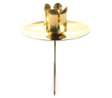Emocio Metal candlestick for a tree candle with a recess gold 5 cm 1 piece
