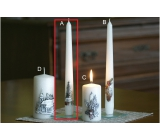 Lima Relief Winter Tree Candle White Cone 22 x 250 mm 1 Piece