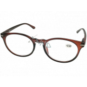 Berkeley Reading glasses +2.0 plastic brown, round glass 1 piece MC2171