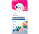 Veet Easy-Gel Body and legs depilatory wax strips for sensitive skin 40 pieces + Perfect Finish wipes for final care 4 pieces