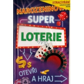 Nekupto Scratch card for birthday Super lottery 21.5 x 13.5 cm G 31 3347