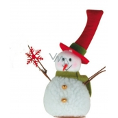 Snowman standing 15cm with flake 3193 7346