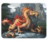 3D magnet - Golden mountain dragon 9 x 7 cm