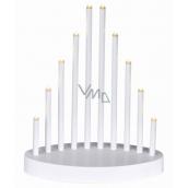 Emos Lighting candlestick white pyramid 20 x 24,5 cm, 10 LED, warm white