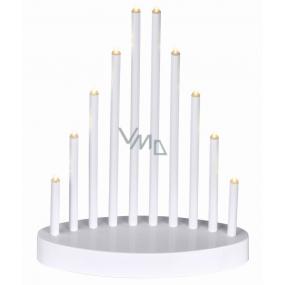 Emos Lighting candlestick white pyramid 20 x 24.5 cm, 10 LEDs, warm white