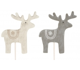 Wooden reindeer 8 cm + skewers 1 piece