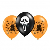 Rappa Inflatable balloon with Halloween print 2 colors, 3 pieces