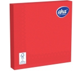 Aha Paper napkins 3 ply 33 x 33 cm 20 pieces one-color saturated red