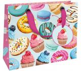 Nekupto Gift paper bag luxury 18 x 16 x 8 cm Sweets 1838 LIS
