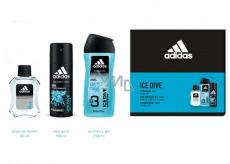 Adidas Ice Dive aftershave 50 ml + shower gel 250 ml + deodorant spray 150 ml, cosmetic set
