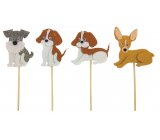 Dog felt recess 8 cm + skewers, 1 piece