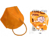 Famex Respirator oral protective 5-layer FFP2 face mask orange 1 piece