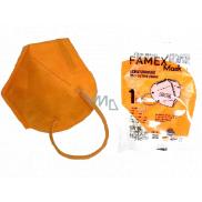 Famex Respirator oral protective 5-layer FFP2 face mask orange 1 piece