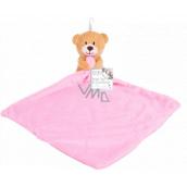 First Steps Sleepwalker with a plush head Teddy bear pink 24 x 26 cm