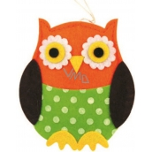 Felt owl polka dot 10 cm