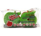 Silux Household Sponge for dishes with a practical suction cup Apple 4 pieces