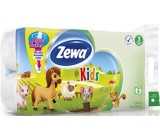 Zewa Kids Aqua Tube toilet paper 3 ply 150 pieces 8 pieces, roll that can be washed