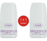 Ziaja Elegance Creamy ball antiperspirant deodorant cream roll-on for women 2 x 60 ml, duopack