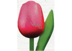 Wooden tulip 20cm pink-red