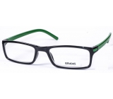 Glasses diop.plast. + 3.5 black green side MC2 ER4045