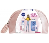 Nivea Raspberry White Tea Body Lotion 200 ml + Love Waves shower gel 250 ml + Pearl & Beauty 50 ml antiperspirant + Labello Pearly Shine 4.8 g + etuette, cosmetic set