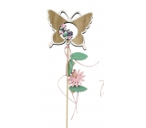 Wooden Spring Spring 10 cm + butterfly butterfly